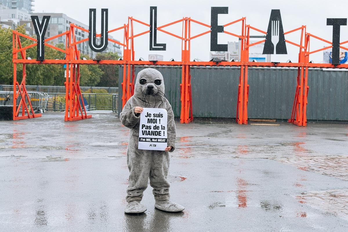 PETA campaign in Montreal byElla Kathryn Mack/Splento