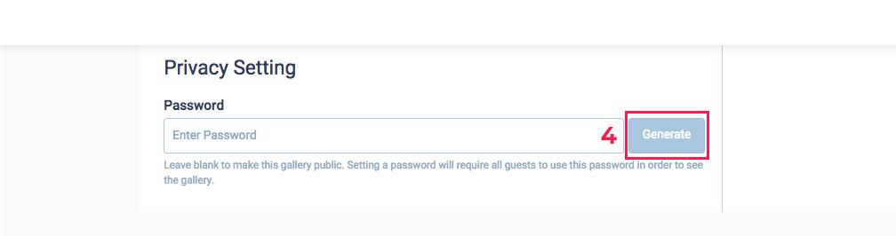 Password protected online gallery