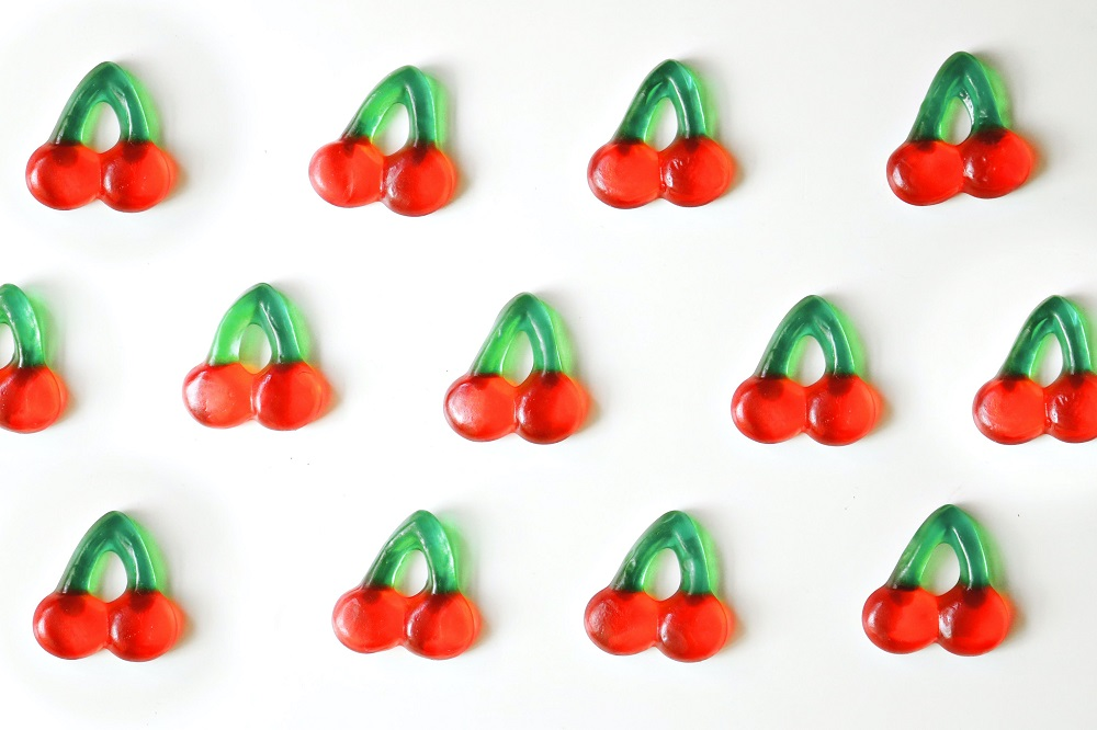 Cherry jelly sweets