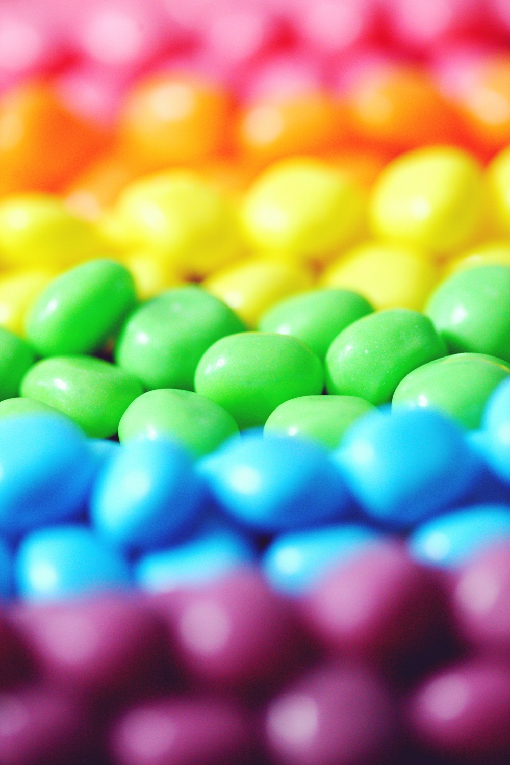 A display of skittle sweets