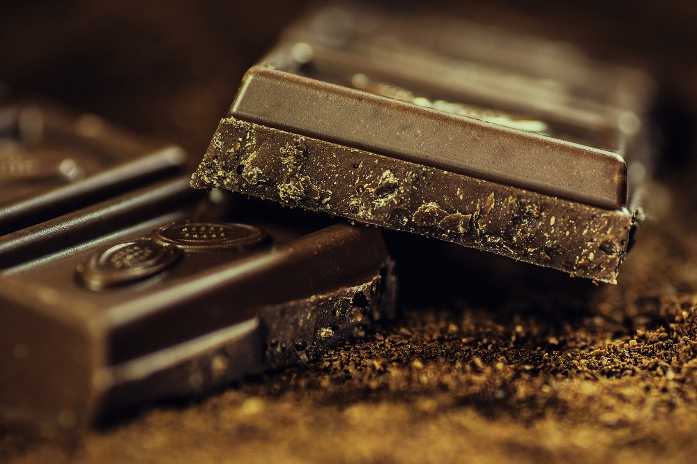 Close up image of chocolate