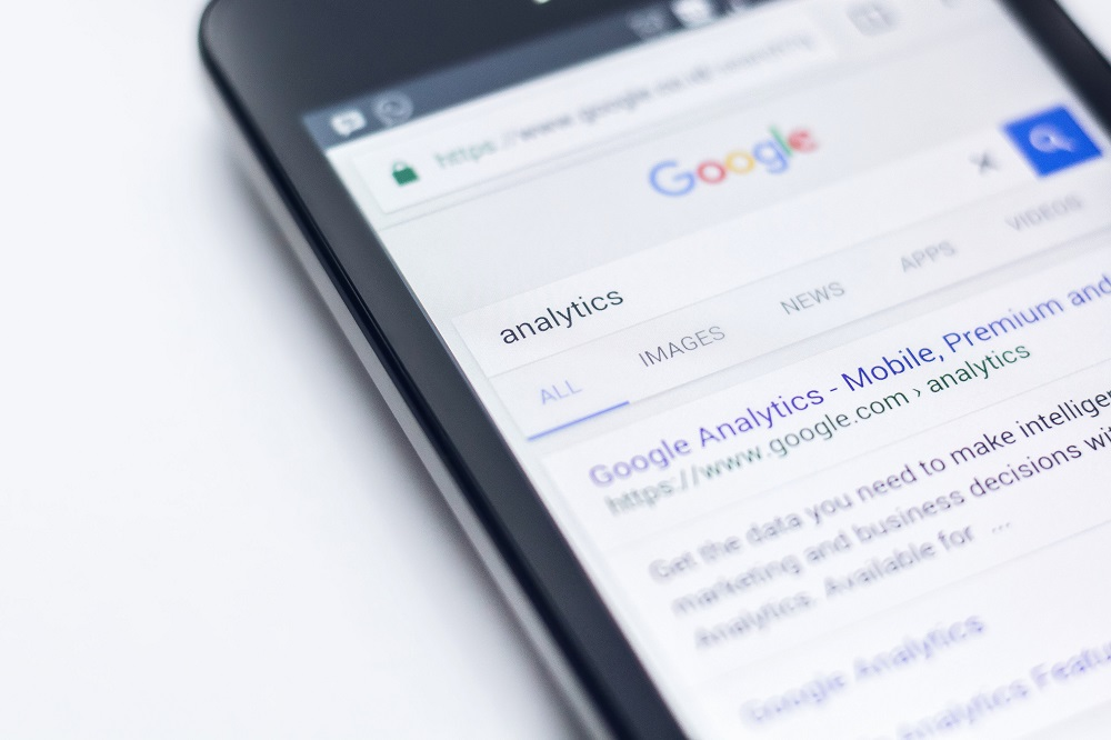 Mobile screen showing Google - Marketing with video