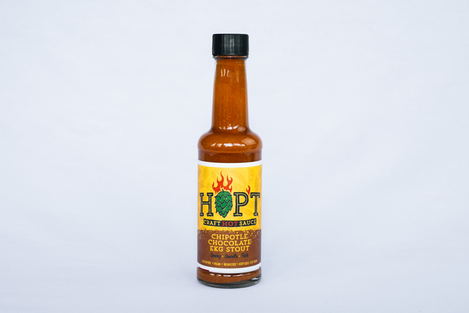 Bottle of Hopt sauce - Food product photography