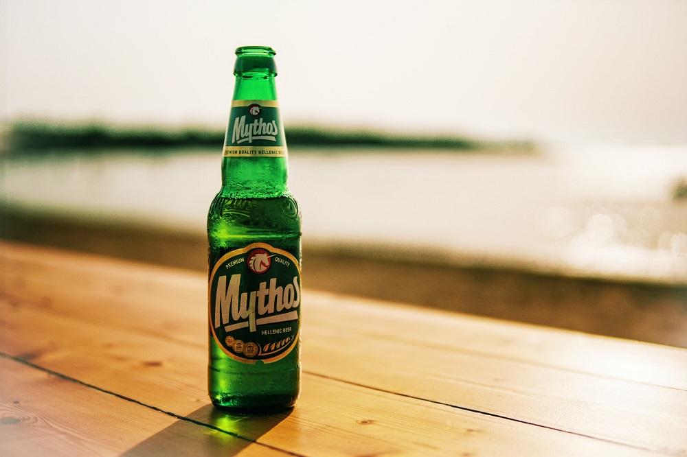 Mythos beer bottle - Bottle photography