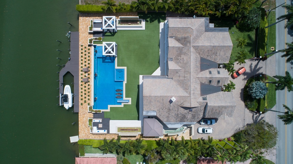 Overhead view of a house - Video marketing experts