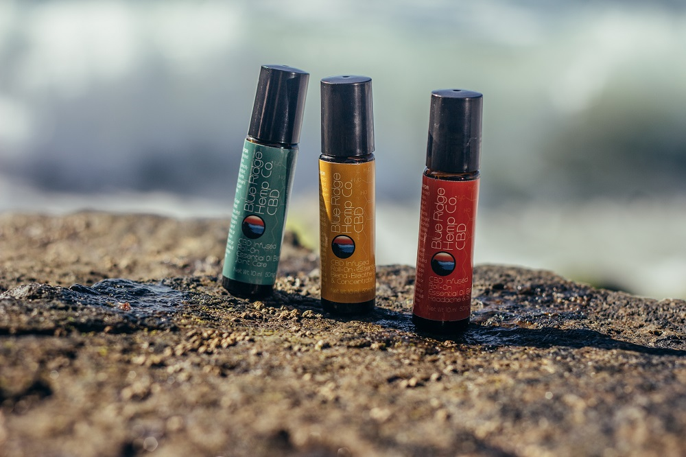 Small bottles on a rock - Outdoor product photography