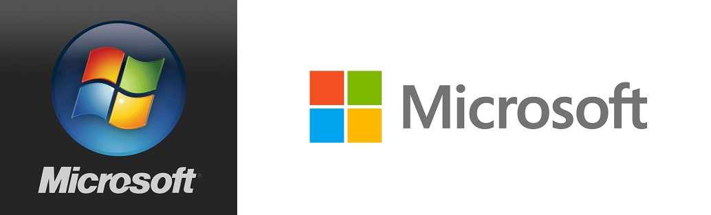 Changes in Microsoft logo