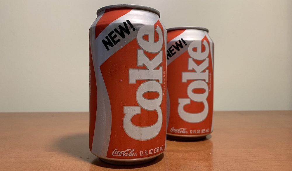Two cans of New Coke