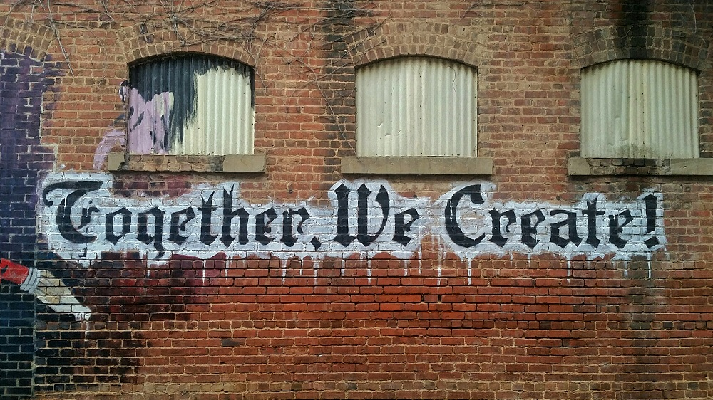 Together we create grafitti
