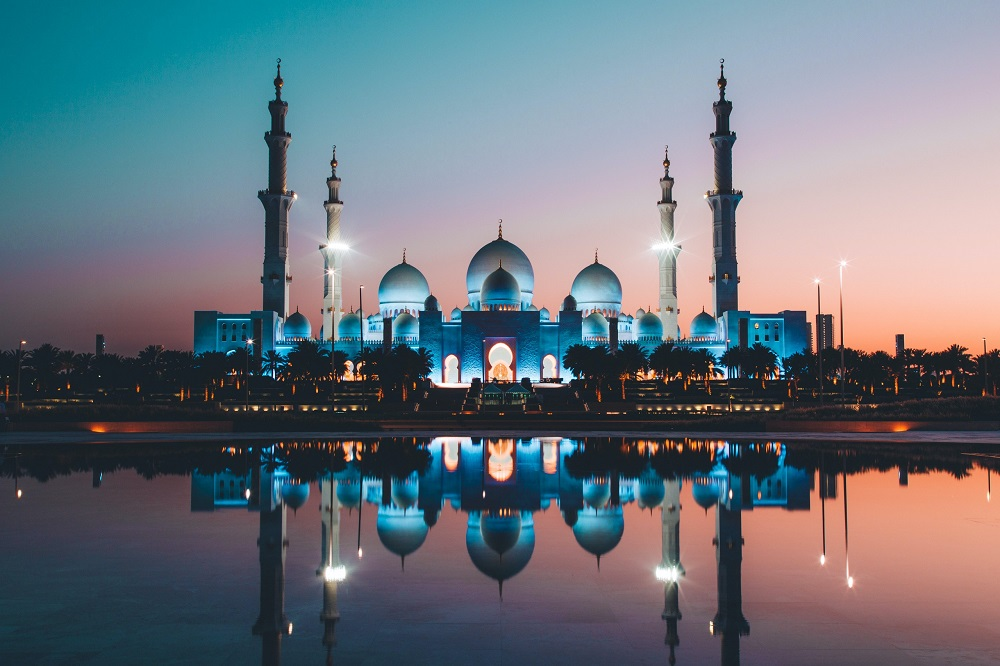 Mosque at sunset - global video production company