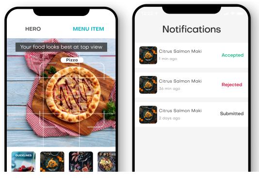 Food App Approval Screen