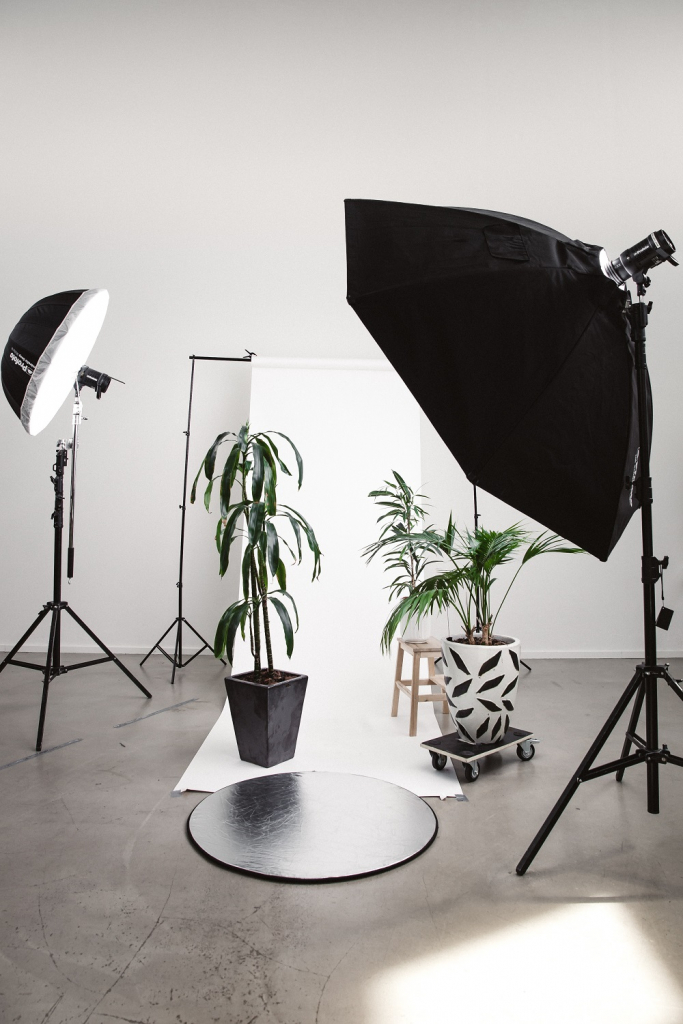 Professional lighting in photography