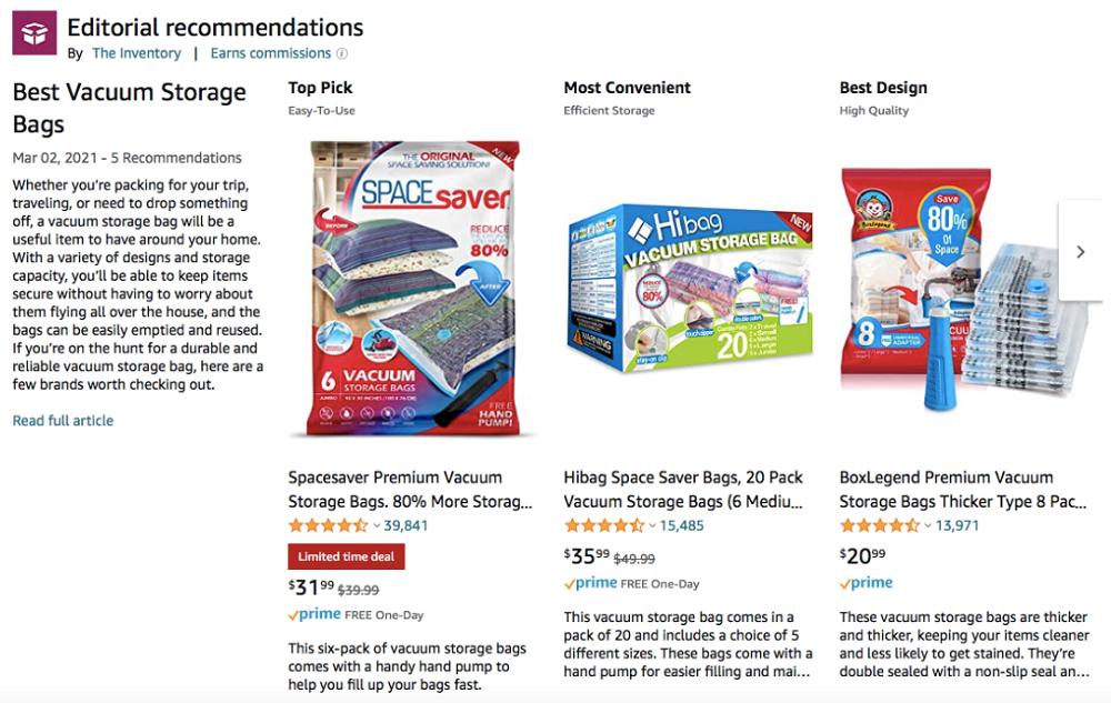 Amazon product videos