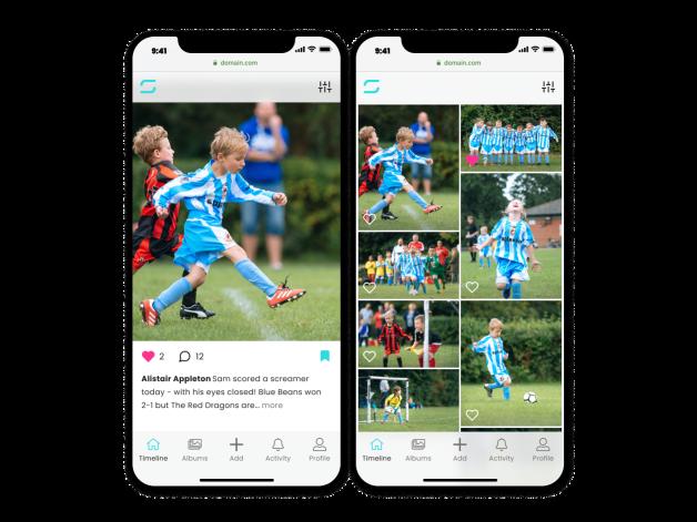 Splento App Sharing images