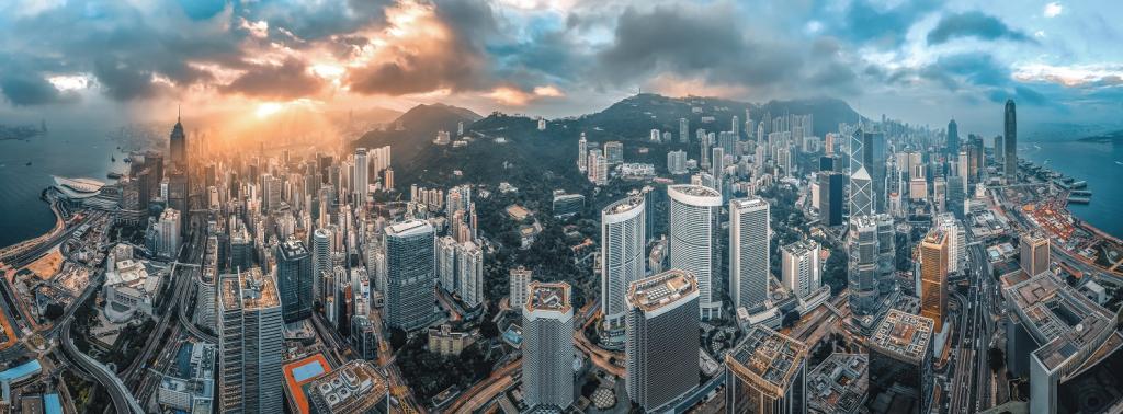 Top panoramic images